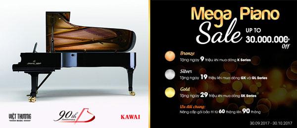 khuyen mai thang 10 kawai piano