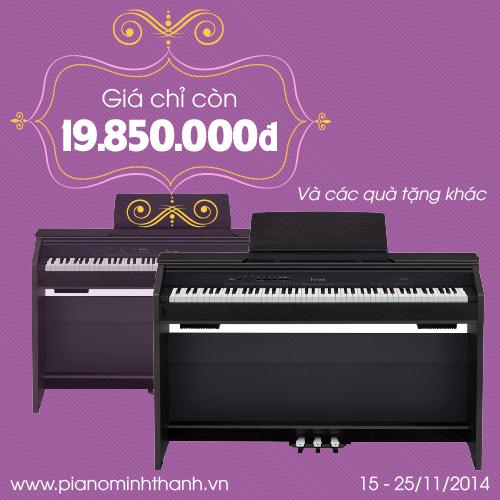 khuyen mai dan piano dien Casio PX850