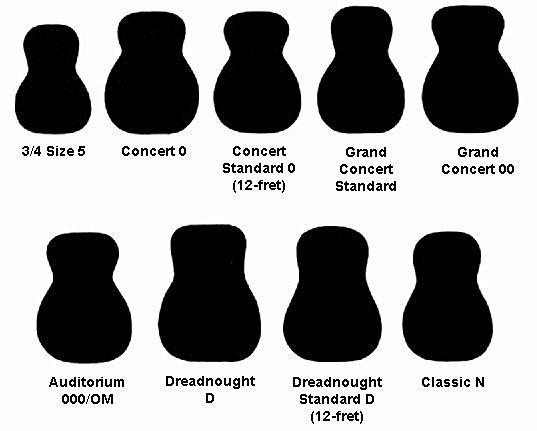 Các loại guitar accoustic