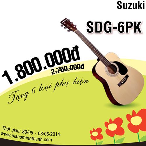 Giam gia dan guitar suzuki SDG-6PK