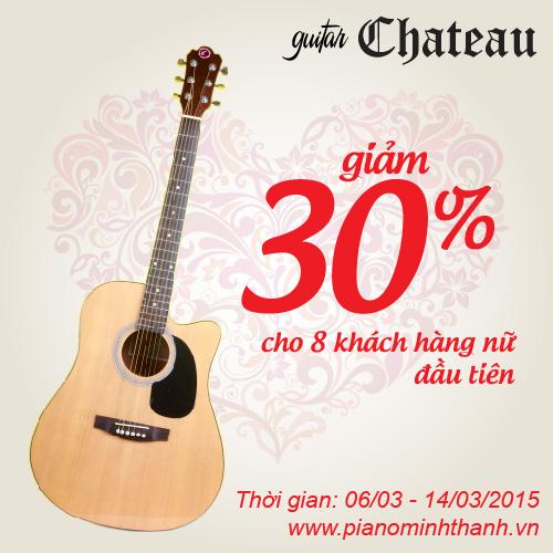 khuyen mai dan guitar chateau
