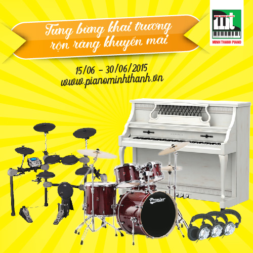 khuyen mai nhac cu tai Minh Thanh PIANO