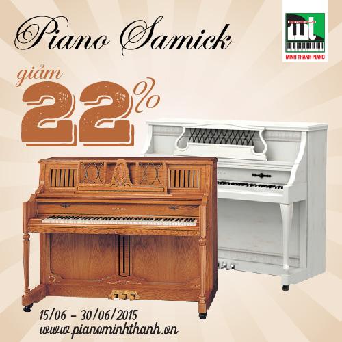 khuyen mai piano samick