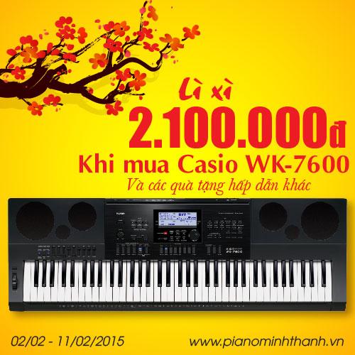 khuyen mai dan organ Casio WK-7600