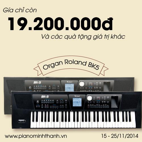 khuyen mai dan organ Roland BK-5