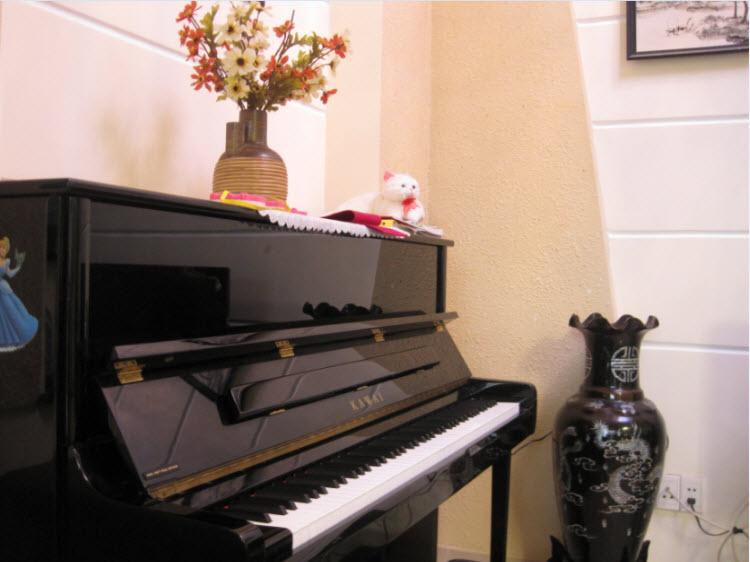 dat binh hoa tren dan piano
