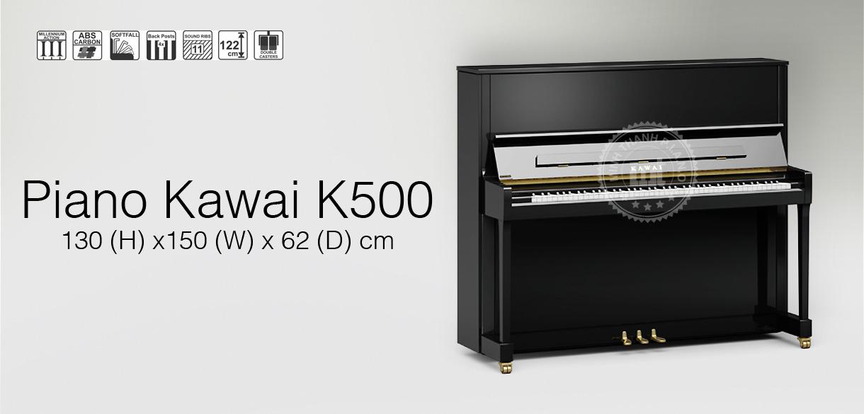 banner piano kawai k500