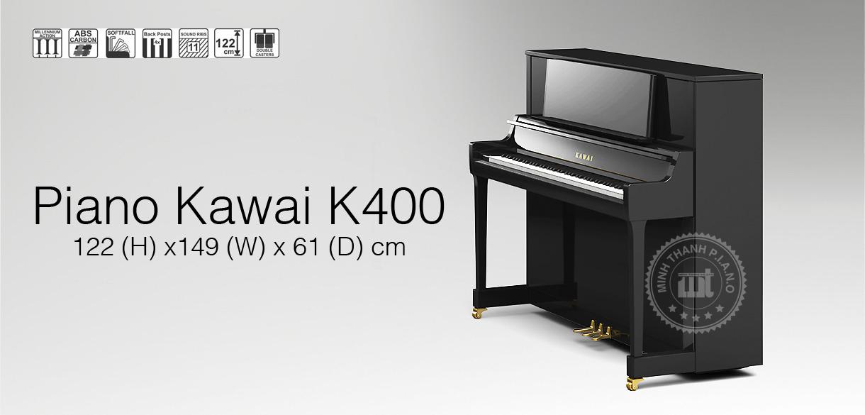 banner piano kawai k400