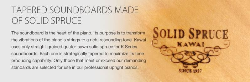soundboard piano kawai