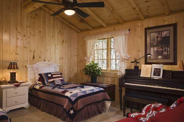 piano in bedroom
