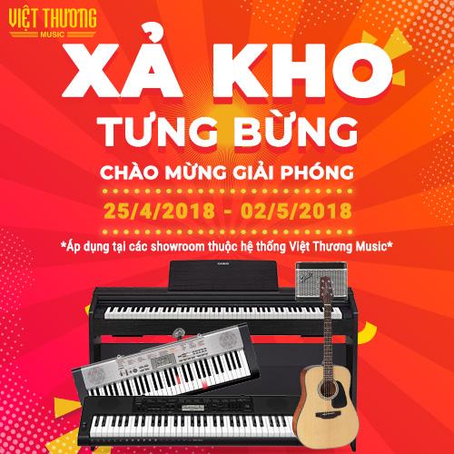 Mừng Đại Lễ 30/4 Nhạc Cụ Giảm Giá Khủng Tại Việt Thương
