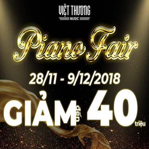 Piano Fair 2018:  Hàng Ngàn Ưu Đãi, Piano Giảm Giá Đến 40 Triệu