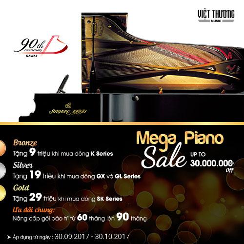Tiết Kiệm 9 - 29 Triệu khi mua đàn piano Kawai mới trong tháng 10