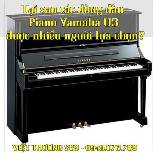 Tại sao các dòng đàn Piano Yamaha U3 được nhiều người lựa chọn?