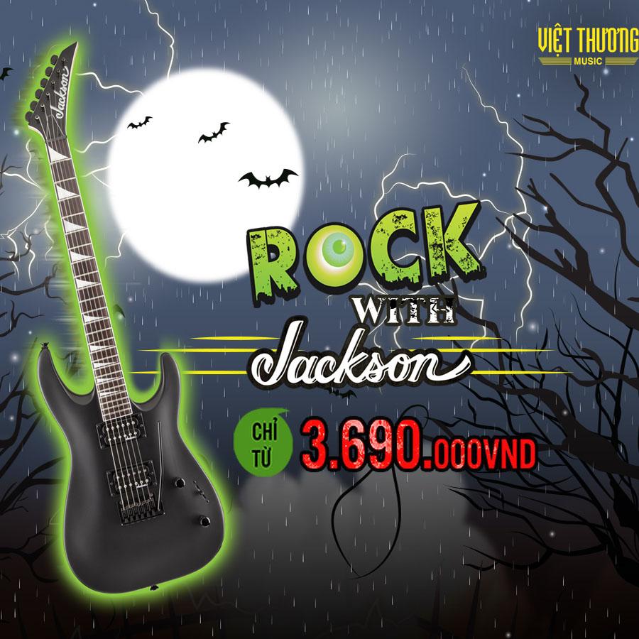 Vui Hallowen Giảm Ngay 25% Jackson Guitar Rock