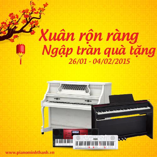 khuyen mai piano acoustic tet Nguyen Dan 2015