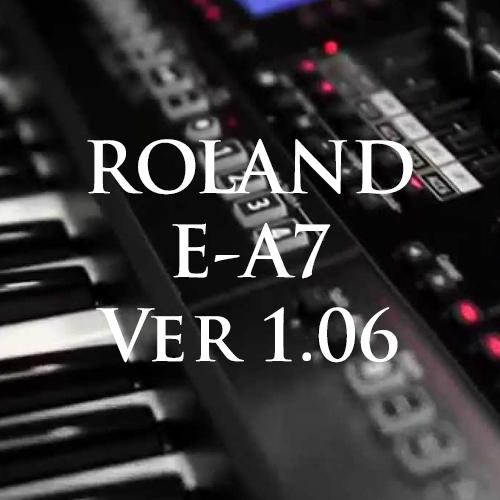 Hướng dẫn cập nhật Ver 1.06 cho đàn Roland E-A7