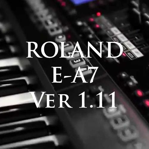 Cập nhật Ver 1.11 cho đàn organ Roland E-A7