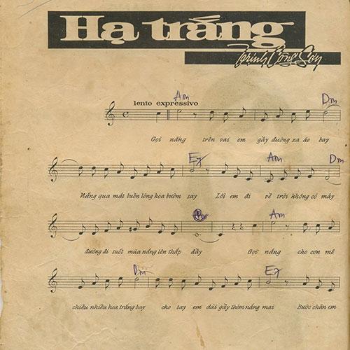 Sheet nhạc piano Hạ Trắng – Trịnh Công Sơn