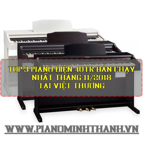 Top 3 piano điện 40tr bán chạy nhất Tháng 11/2018 tại Việt Thương