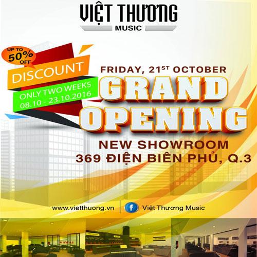 Việt Thương Music khai trương showroom nhạc cụ lớn nhất Việt Nam tại TPHCM