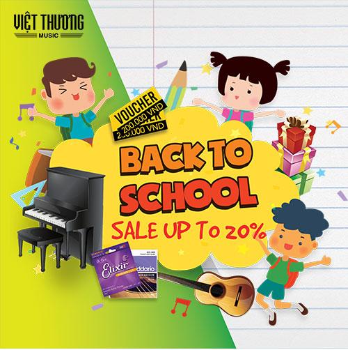 Khuyến mãi năm học mới, nhạc cụ giảm giá đến 20%